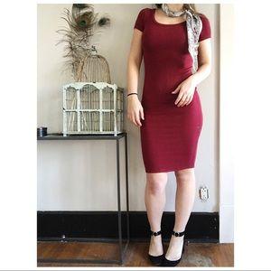 atid ruby ribbed dress